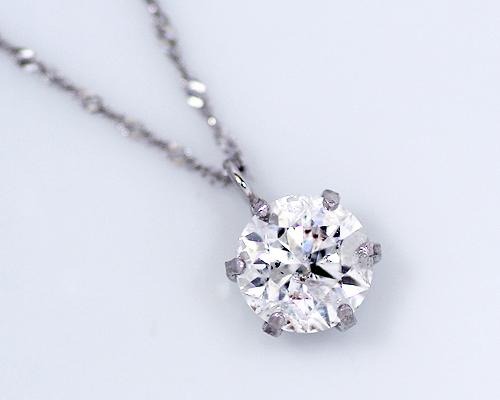 【2020年1月1日~1月3日限定 クーポン利用で20%OFF】0.8ct プラチナ ダイヤモンド 6爪 ペンダント (Hカラー・I1クラス・GOODカット) 鑑定書 ネックレス ダイヤ 天然ダイヤ 女性用 レディース ファッション