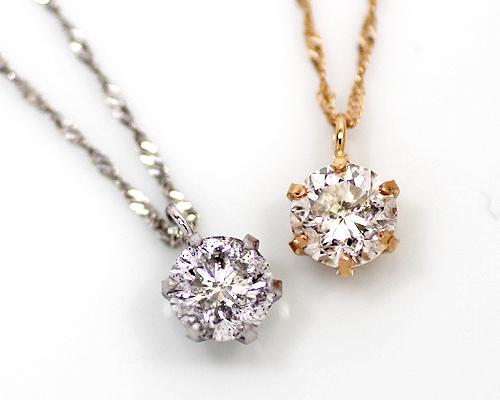 K18/WG/PG 0.5ct ダイヤモンドペンダント (268388)