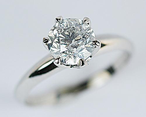 1.5ct プラチナ ダイヤモンド 6爪 リング (Hカラー・I1クラス・GOODカット) 鑑定書 エンゲージリング 婚約指輪 ダイヤ 指輪 天然ダイヤ 結婚 婚約 女性用 レディース ブライダルジュエリー ファッション