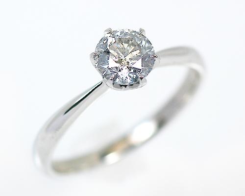 0.6ct プラチナ ダイヤモンド 6爪 リング (Hカラー・I1クラス・GOODカット) 鑑定書 エンゲージリング 婚約指輪 ダイヤ 指輪 天然ダイヤ 結婚 婚約 女性用 レディース ブライダルジュエリー 6爪 ファッション