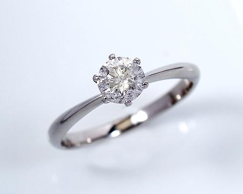 0.8ct プラチナ ダイヤモンド 6爪 リング (Hカラー・I1クラス・GOODアップ) 鑑定書 エンゲージリング 婚約指輪 ダイヤ 指輪 天然ダイヤ 結婚 婚約 女性用 レディース ブライダルジュエリー ファッション