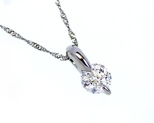 Pt900 0.3ct 1粒 ダイヤモンド ペンダント 一粒石 1粒