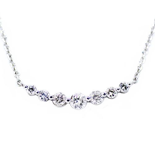 限定15本 プラチナ 0.35ct ダイヤモンド 7ストーン ペンダント