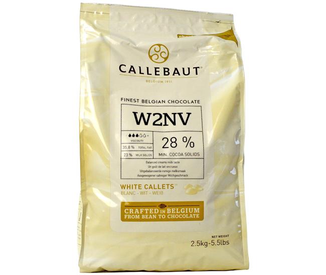 CALLEBAUT (カレボー) クーベルチュールホワイト W2 カレット 2.5kg 【夏季冷蔵】