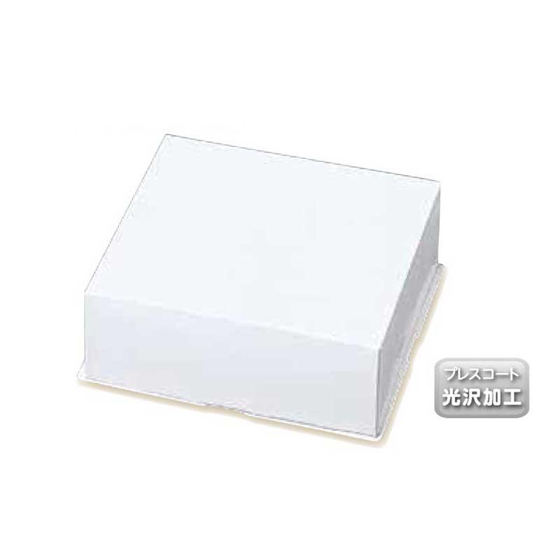 【予約商品】ケーキ箱 パイ箱 ONかぶせタイプ 白無地 6寸用 蓋のみ 50枚 フタのみ【常温】