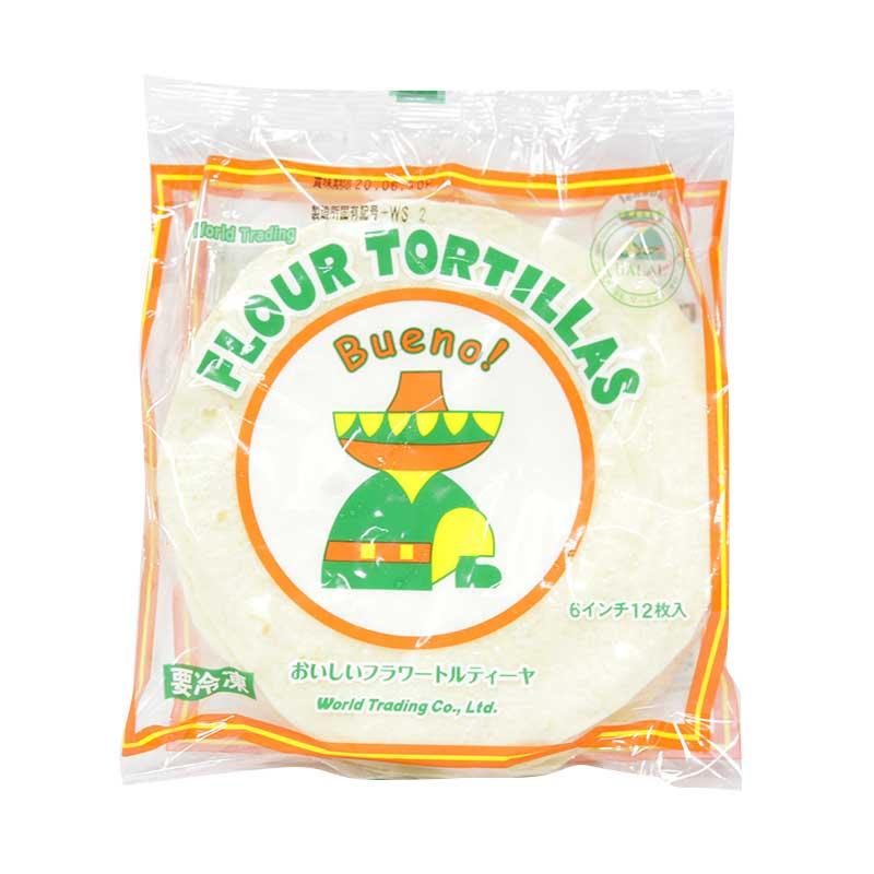 製菓製パン 手作り 業務用 フラワートルティーヤ 信頼 FLOUR 12枚入 冷凍 最新 TORTILLAS 6インチ