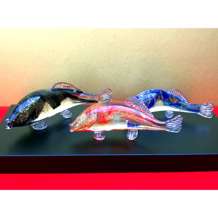 激安直営店 【送料無料 清水】ガラスの鯉を端午の節句のお祝いに!【塗り台付き 柾>】鯉昇 箱入り<ガラス作家 清水 柾>, いいものいっぱい!マザーリーフ:d88735f2 --- canoncity.azurewebsites.net