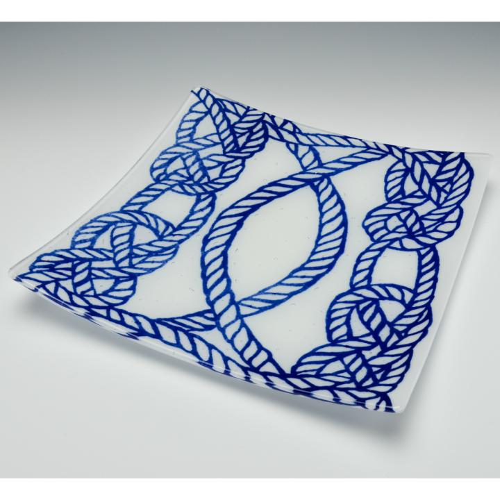 Fukico Ceramico 絵皿 Harbar ガラス