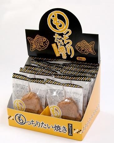 休み もっちりたい焼き1個 個包装 が かわいい箱に10個入っています クリーム 10個入 チープ もっちりたい焼き
