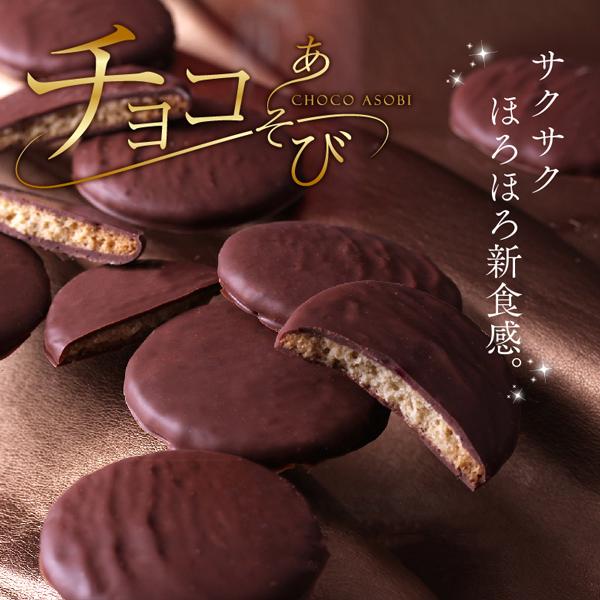 チョコあそびサブレ(4枚入り) (個包装)がらんの小石×チョコ 人気 プチギフト スイーツ お配り 職場 会社 上司 プレゼント