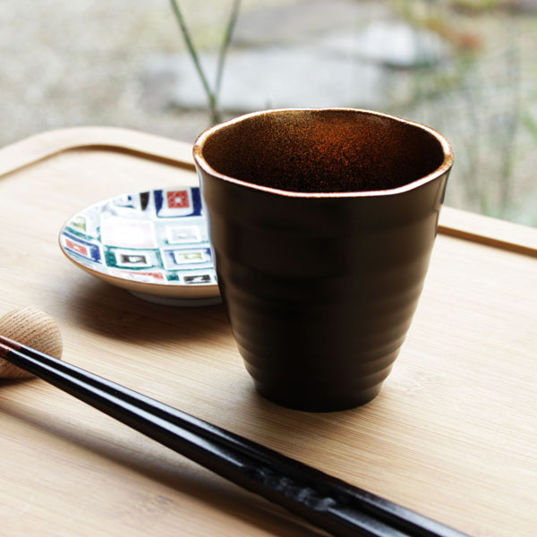 Urushihara Satoshi Ken suffers this lacquer glass natural lacquer coating (small) China, factory-made (beer Cup / sake / shochu Cup / Japanese instruments / gift / mother's day / father's day and grandparents day) silver Makie name put free!