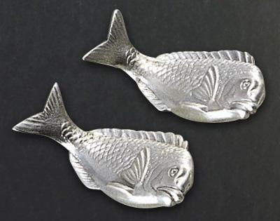 【純銀製】箸置 鯛2ヶセット       SS663-7382