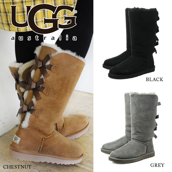 Pre-order ◇ ◇ UGG W BAILEY BOW TALL UGG Womens Bailey bow Thor women's  women's Shearling boots Babyz leather boots boots 15 FW 1509