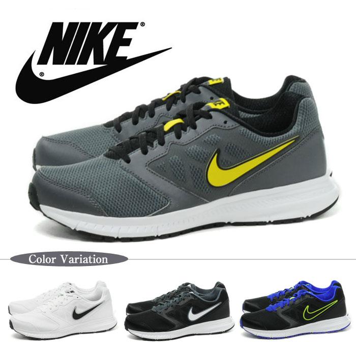 NIKE DOWNSHIFTER 6 MSL耐克降低希弗三6男子的男性用的跑步鞋网丝尼龙轻量运动鞋1601