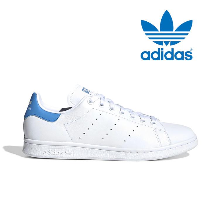 送料無料 アディダス スニーカー オリジナルス スタンスミス メンズ レディース レザー 本革 シューズ 靴 白 ホワイト ブルー adidas originals STAN SMITH EF9291