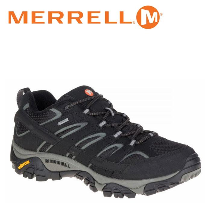 送料無料 メレル MERRELL モアブ 2 ゴアテックス MOAB 2 GORE-TEX メンズ トレッキングシューズ ローカット ブラック 黒 BLACK M06037