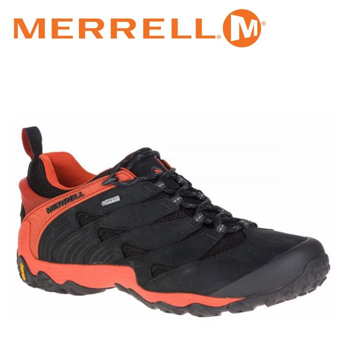 送料無料 メレル MERRELL カメレオン 7 ゴアテックス CHAMELEON 7 GORE-TEX メンズ トレッキングシューズ ローカット 黒 赤 ブラック レッド ファイヤー FIRE M98291 0116