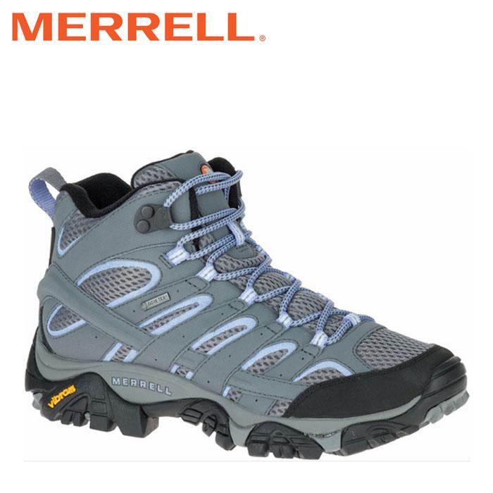 送料無料 メレル MERRELL モアブ 2 ミッド ゴアテックス MOAB 2 MID GORE-TEX レディース ウィメンズ トレッキングシューズ ハイカット グレー ペリウィンクル GREY W06066 0116