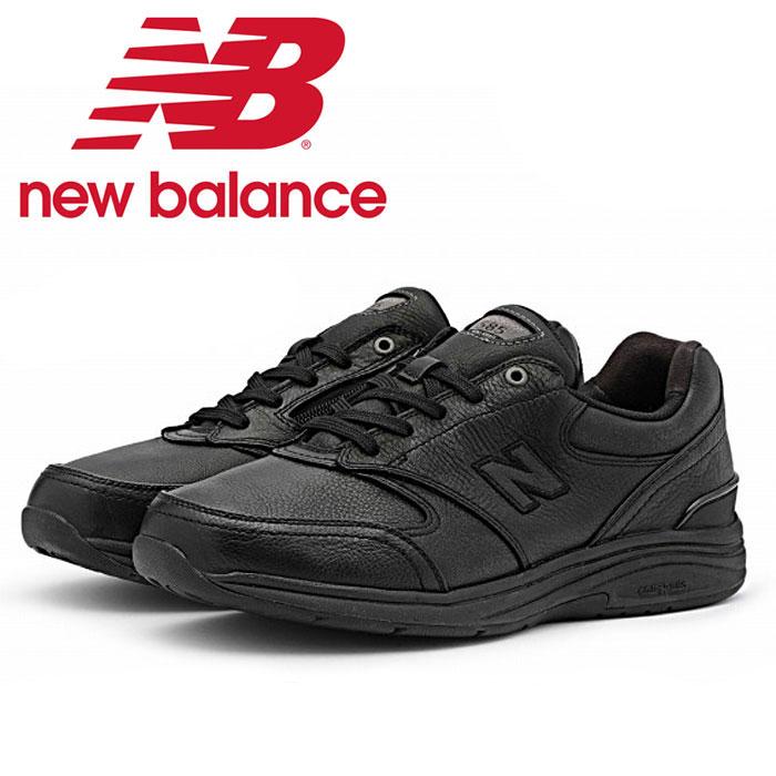 送料無料 ニューバランス New Balance MW585 BK スニーカー メンズ ウォーキングシューズ レザー 幅広 ワイド ローカット 男性 黒 ブラック New Balance