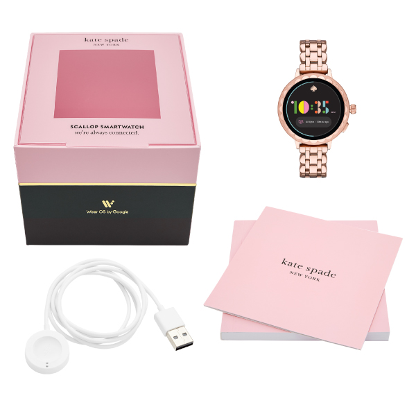 Latest Kate spade touch screen smart watch formula two years guarantee  Katespade iphone android correspondence ウェアラブル watch Lady's KST2010  SCALLOP2