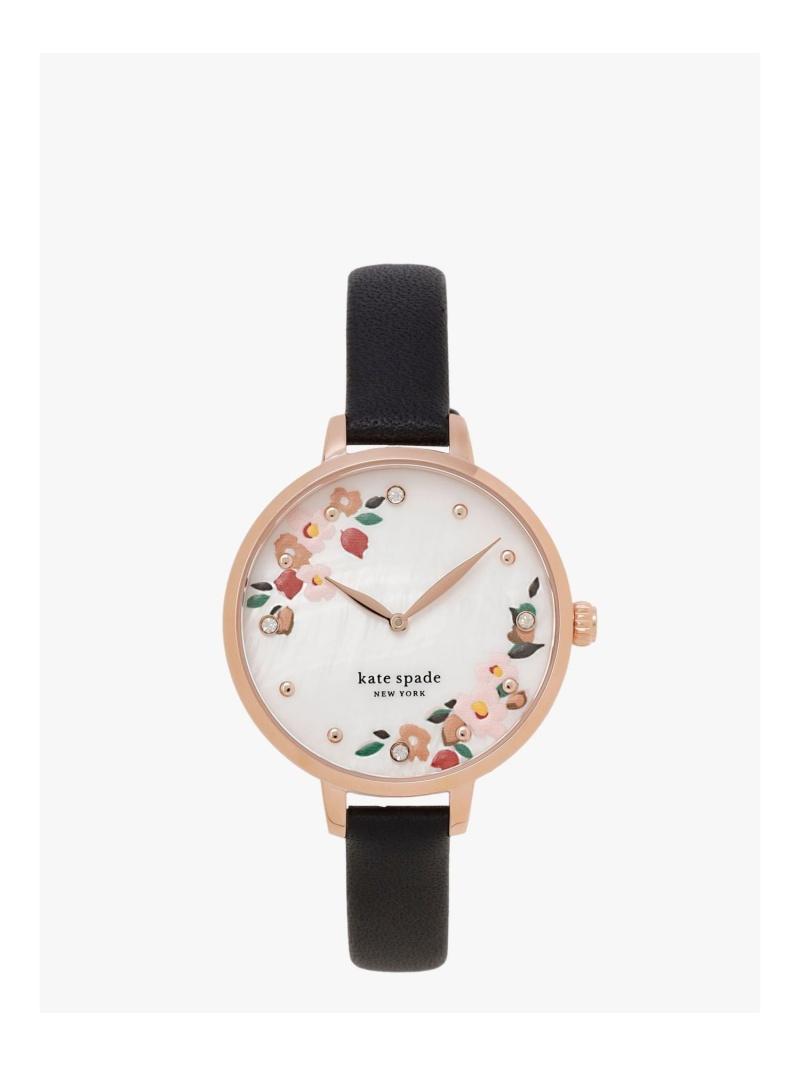 kate spade new york レディース ファッショングッズ ケイトスペードニューヨーク メトロ 送料無料 ツーハンド ウォッチ Rakuten 再販ご予約限定送料無料 ブラック Fashion 激安セール 腕時計 レザー