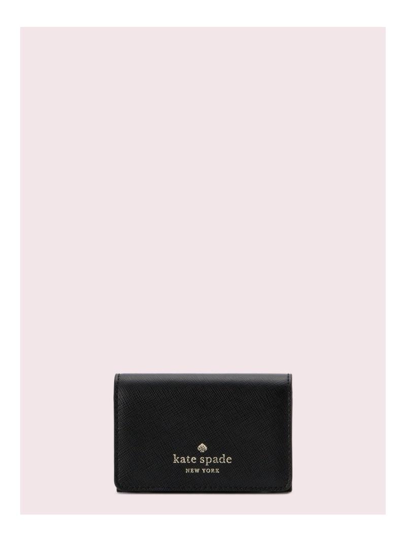 kate spade new york レディース 財布 小物 ケイトスペードニューヨーク SALE 50%OFF 購買 ステイシー Rakuten ビジネス ホルダー 高品質新品 ブラック RBA_E カードケース カード Fashion ミディアム パスケース 送料無料