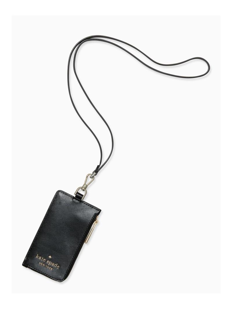 kate spade new ファクトリーアウトレット york レディース 財布 小物 ケイトスペードニューヨーク SALE 50%OFF ステイシー 送料無料 ランヤード カード Rakuten Fashion カードケース ブラック パスケース ケース 大注目 RBA_E