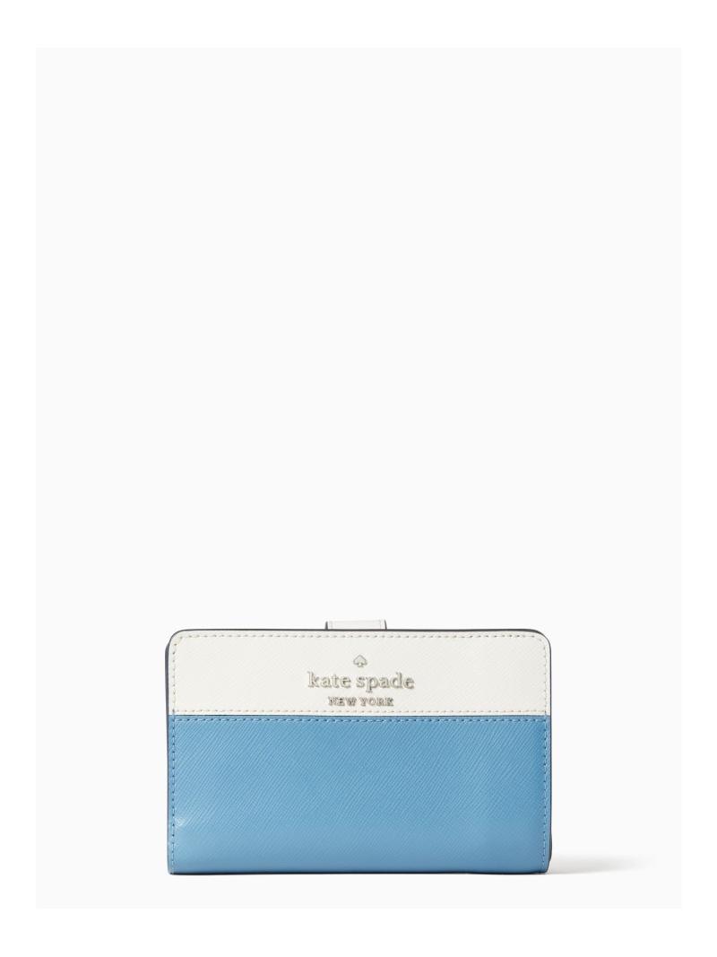 kate spade new york 正規店 レディース 財布 小物 ケイトスペードニューヨーク SALE 50%OFF Rakuten ウォレット コンパクト RBA_E Fashion 結婚祝い 送料無料 バイフォールド ステイシー ミディアム カラーブロック