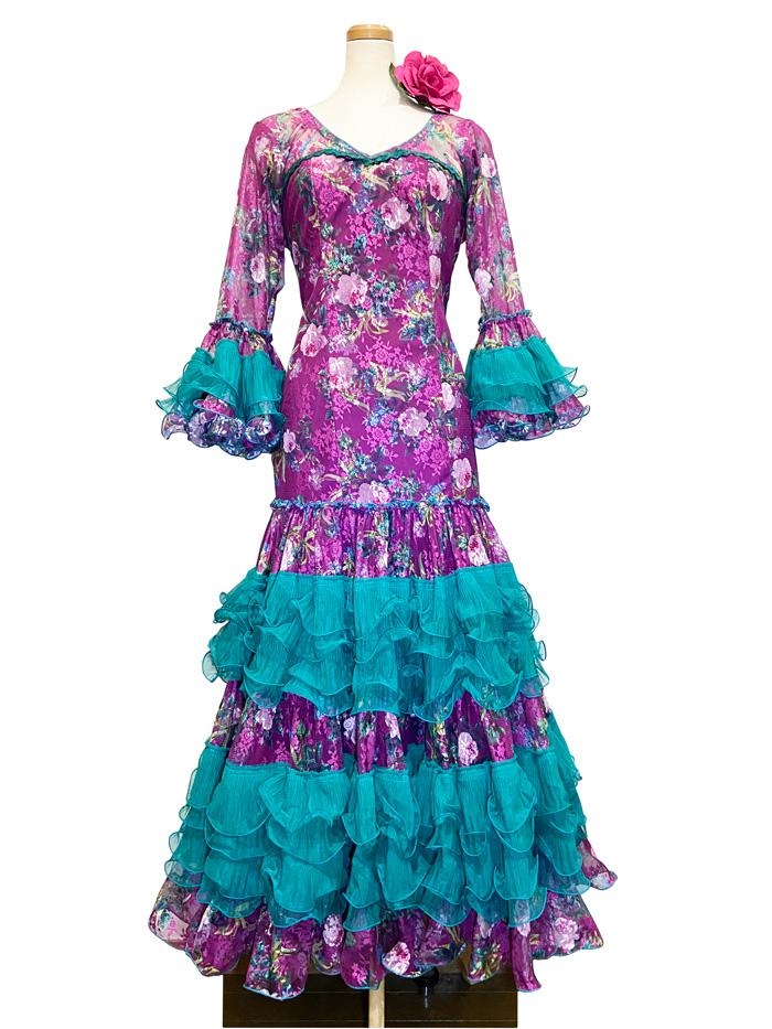 即納品 Precious 2020 HIERBABUENA / イエルバブエナ (SIZE:44) フラメンコドレス Guadalupe社製 フラメンコ衣装 送料無料