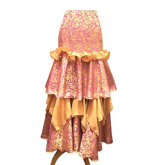 ファルダ ( 金のアラベスク ) (SIZE:40~42)フラメンコスカート Guadalupe社製