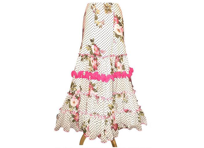 ファルダ ( 花柄カナステロ ) (SIZE:38)フラメンコスカート Guadalupe社製