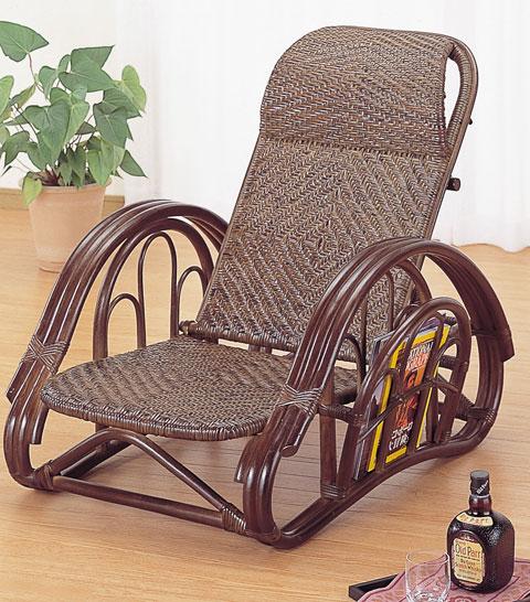 籐リクライニング椅子