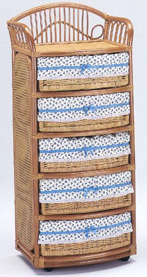 印象のデザイン 籐5段ランドリー(E-270)(W600D440H1330), 南郷村:ff74e8d1 --- hortafacil.dominiotemporario.com