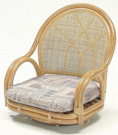 籐回転座椅子S-361