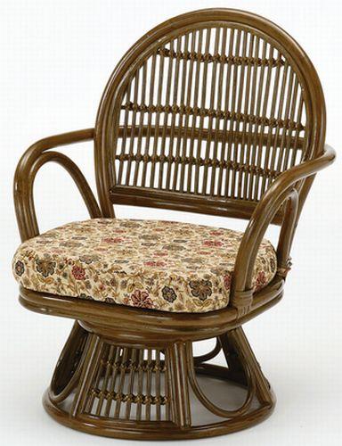 籐回転椅子