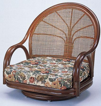 籐回転座椅子S-3003B