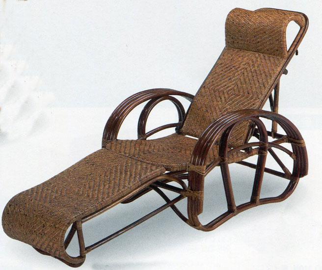 籐リクライナー 籐三つ折り椅子 リラックスチェアC-104CN