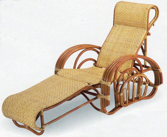 籐リクライナー 籐三つ折り椅子 リラックスチェアC-105A