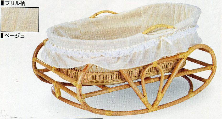 籐ベビーベッド ヨーラン 赤ちゃん用寝台BB-53NF