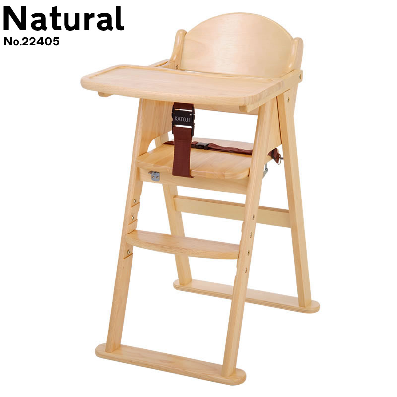 Wooden high chair cena step switching natural / Brown
