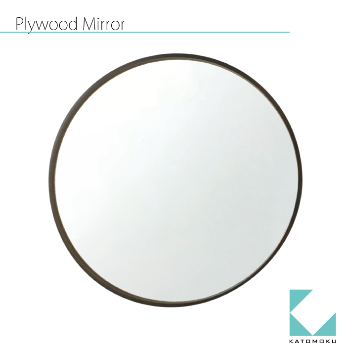 KATOMOKU plywood mirror km-91B ブラウン 壁掛け 鏡