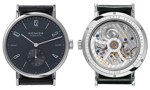 只有 100 德国制造的这种 NOMOSTangomat Blau 2 自动计时手表