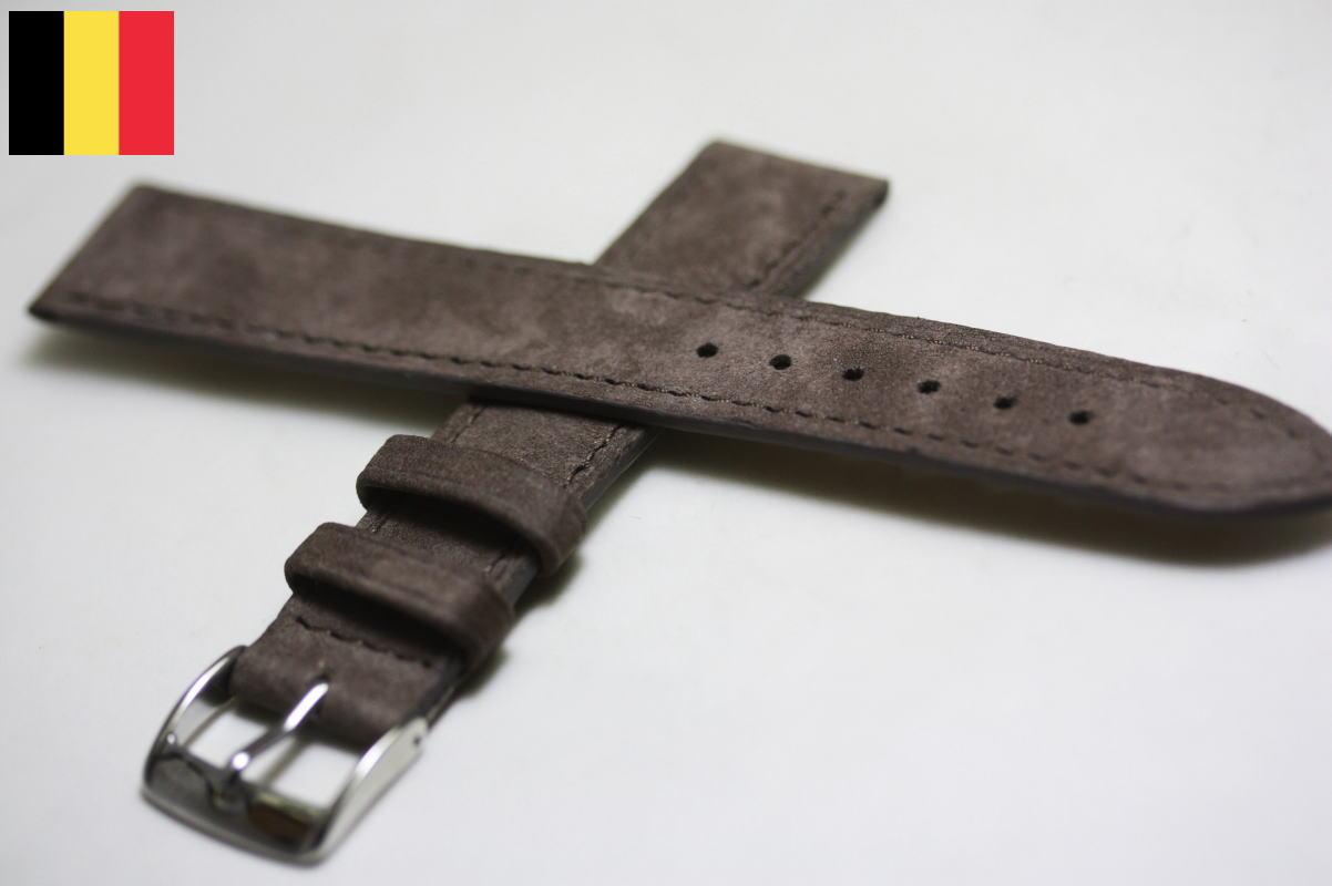 ベルギー製の革バンドLIC【リック】バッファロー革バンド/腕時計用/BELGIUM/HERMES/