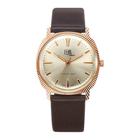 スイス製FHB Classicのヴィンテージ・デザインウォッチ/クォーツ腕時計/男女兼用/ケース直径約33ミリ/正規代理店商品
