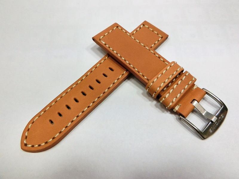 瑞士甘氨酸皮革带为手腕真皮表带 22 毫米 / 甘氨酸