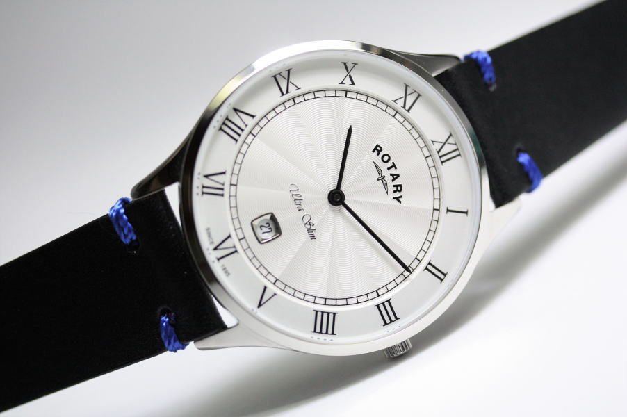日本限定のROTARY【ロータリー】Ultraslim Blackwatch【ウルトラスリム】クラシック・クォーツ腕時計/正規代理店商品/男女兼用腕時計