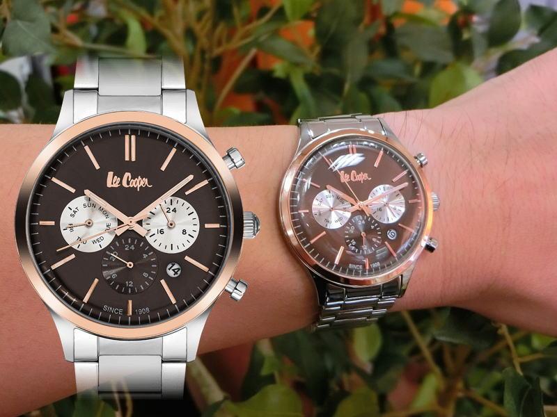 イギリスのデニムメーカーLee Cooper【リークーパー】デュアルタイム搭載のクォーツ腕時計/正規代理店商品/送料無料/クリスマス/腕時計