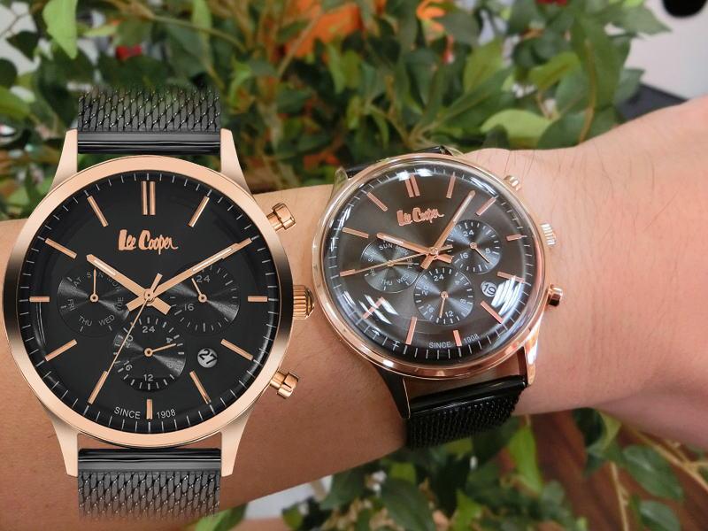 イギリスのデニムメーカーLee Cooper【リークーパー】デュアルタイム搭載のクォーツ腕時計/正規代理店商品