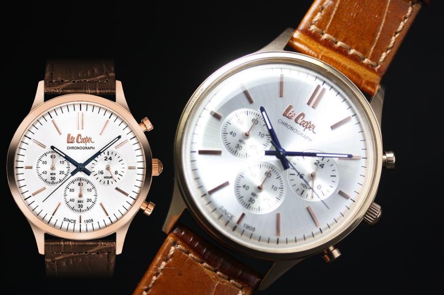 イギリスのデニムメーカーLee Cooper【リークーパー】クォーツ・クロノグラフ腕時計/正規代理店商品/送料無料/クリスマス/腕時計