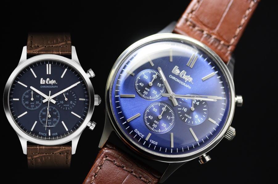 イギリスのデニムメーカーLee Cooper【リークーパー】クォーツ・クロノグラフ腕時計/正規代理店商品